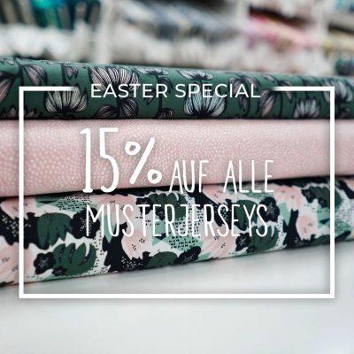 Easter Special - 15% Rabatt auf Muster-Jerseys im Laden